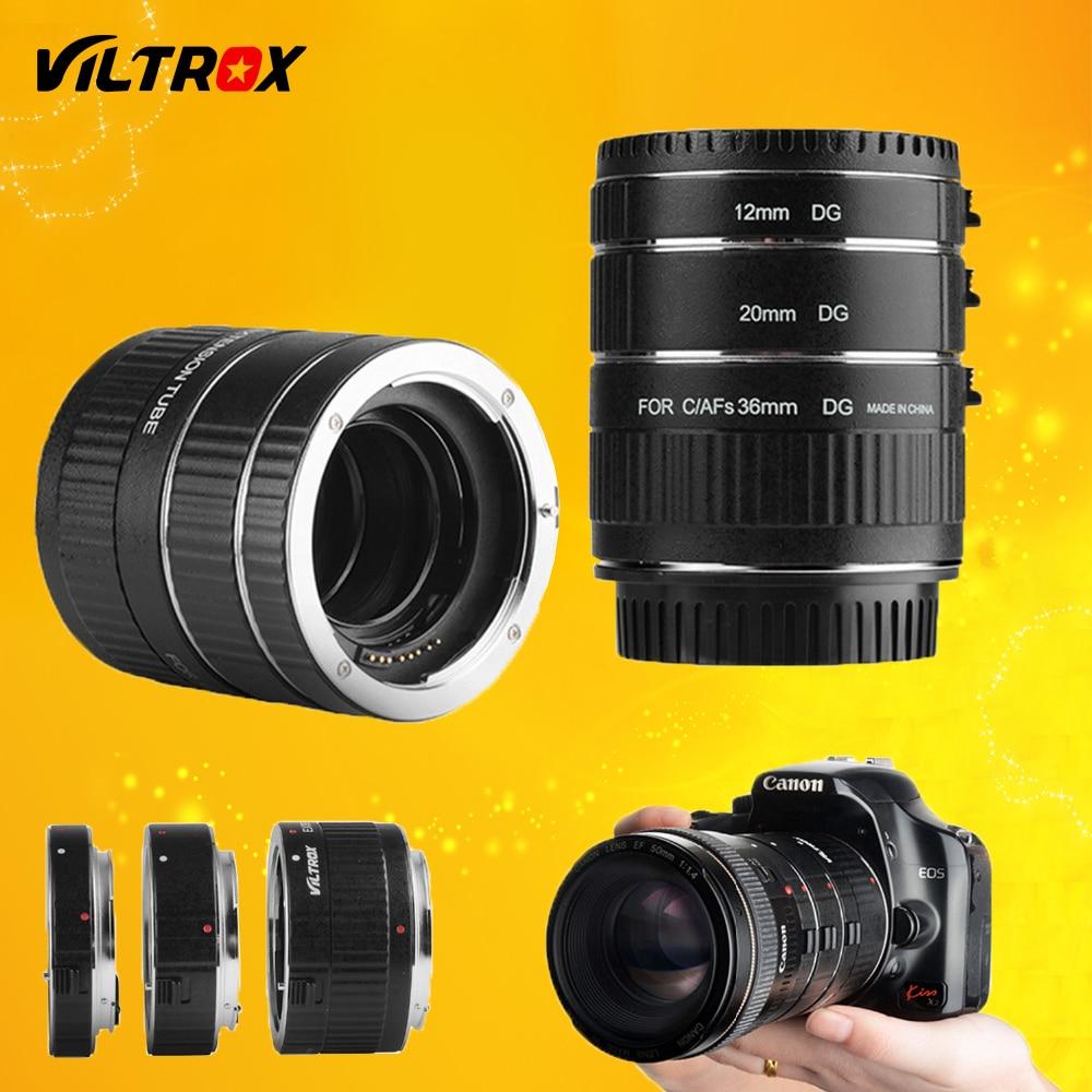 Viltrox DG-C monture en métal Auto Focus AF Macro Extension Tube adaptateur d'objectif pour Canon EOS 750D 700D 800D 77D 60D 5D II IV 7D II 80D