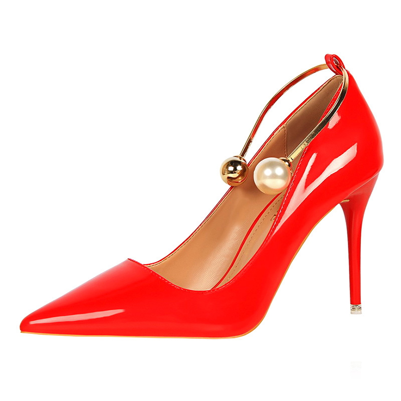 Sexy High Heels Women Stiletto 2017 Women Pumps Pink Elegant Nude Heels Shoes Woman-In -9150