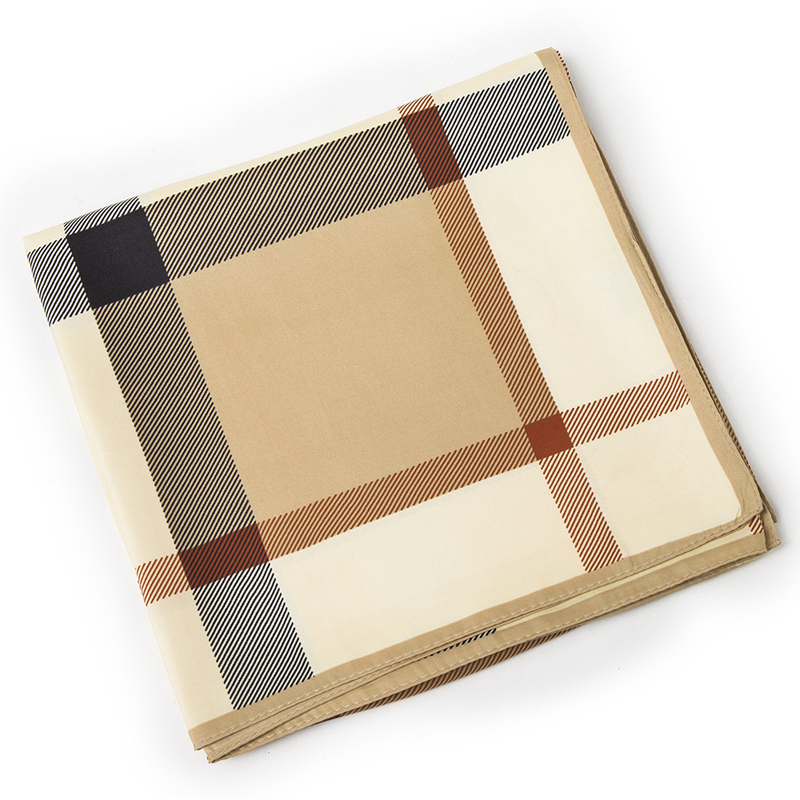 100x100 Women Silk Square Scarf Big Size Twilly Checkered Bandana font b Tartan b font Foulard