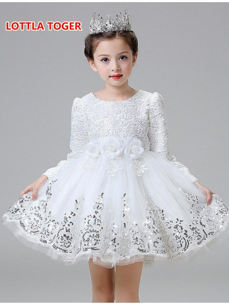 cff8e99fc Hot Lace flower girls wedding dress baby girls christening cake ...