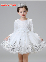 Hot Lace Flower Girls Wedding Dress Baby Girls Christening Cake Dresses For Party Occasion Kids 1
