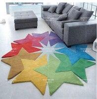 Farbige sterne und kreative persönlichkeit unregelmäßig geformte kaffee tisch matten schlafzimmer wohnzimmer sofa bett dicken teppich