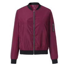Womens Classic Quilted zipper Jacket Short Bomber Jacket Zipper Classical Female Solid Coat Casual Chaqueta deportiva mujer zipper quilted pilot jacket