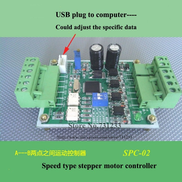Stepper Motor Controller Board SPC-02 Single axis Servo Control Computer Tune Setting Data