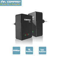1 Pair COMFAST Router 200Mbps Gigabit Powerline Network Adapter Kit HomePlug Ethernet Adapter PLC Adapter Network