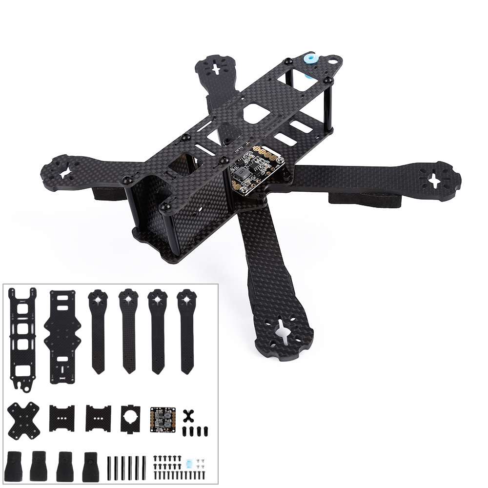 1pcs QAV-R 220mm 4mm Arm DIY Mini Drone FPV QAV-R Cross Racing Quadcopter Pure Carbon Fiber Frame new qav r 220 frame quadcopter pure carbon frame 4 2 2mm d2204 2300kv cc3d naze32 rev6 emax bl12a esc for diy fpv mini drone