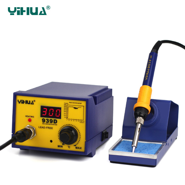 Imported Larger Power Heater YIHUA 939D Digital Temperature Controlled Soldering Station