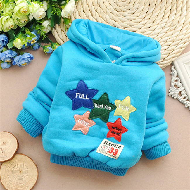 Free shipping New pentagrams autumn and winter baby boys and girls hoodies coat,children thick t-shirt,kid thick hoodies#Z920