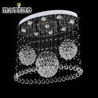 Modern LED Ceiling Lights For Living Room Art Crystal Celling Lamps Rectangular Oval Dining Room Bedroom Lighs Fixture Lanterns