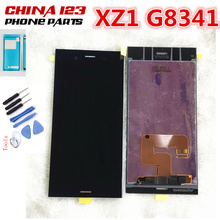 цена на black white blue pink For Sony Xperia XZ1 G8341 G8342 LCD Display With Touch Screen Digitizer Assembly Replacement + frame