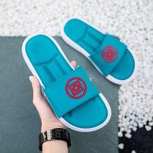 2019 Popular Men Shower Slippers Anti-Slip Home for Comfortable Flip Flops Beach Shoes Weight Light Flats