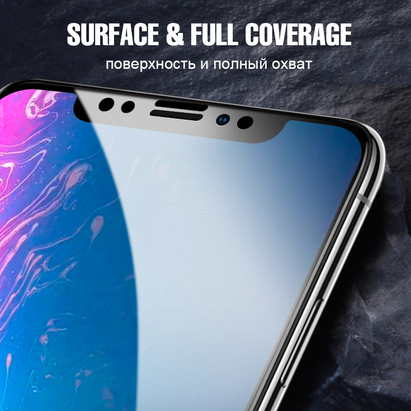 8D Screen Protector Hydrogel Film For iphone XS Max XR X 7 Soft Full Protective Film Cover For iphone 8 7 6 6s Plus X Not Glass in Phone Screen Protectors from Cellphones Telecommunications