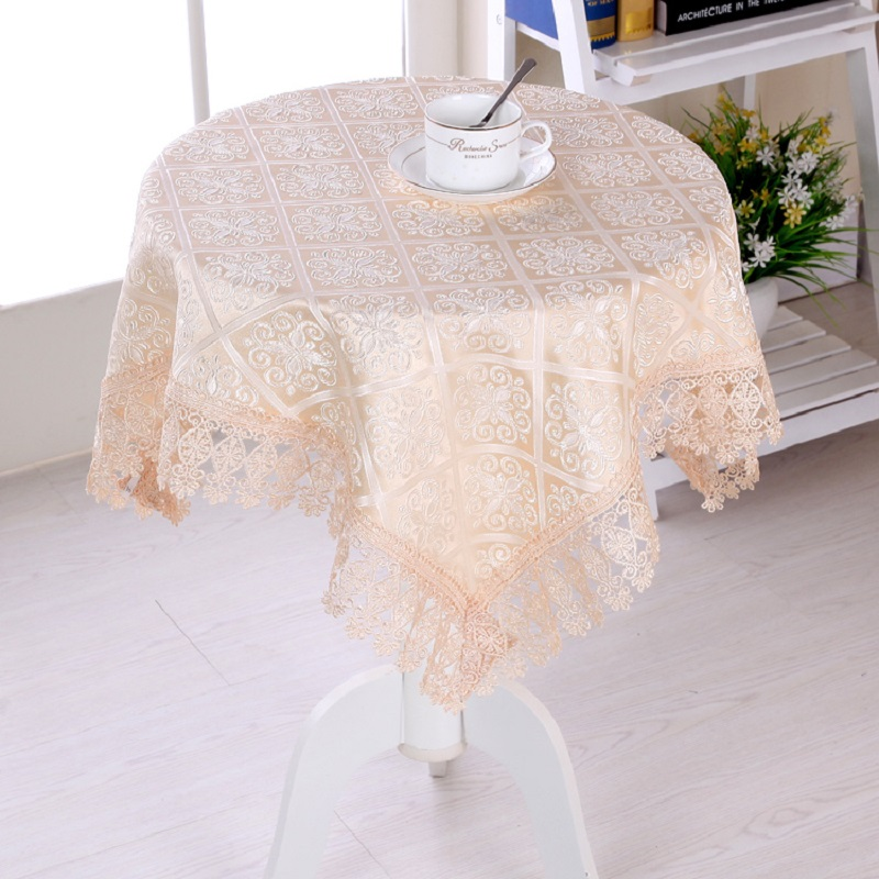 Europe Luxury Tablecloth Lace Table Cloth Floral Wedding Tablecloth  Square/Rectangle Table Cover For Home