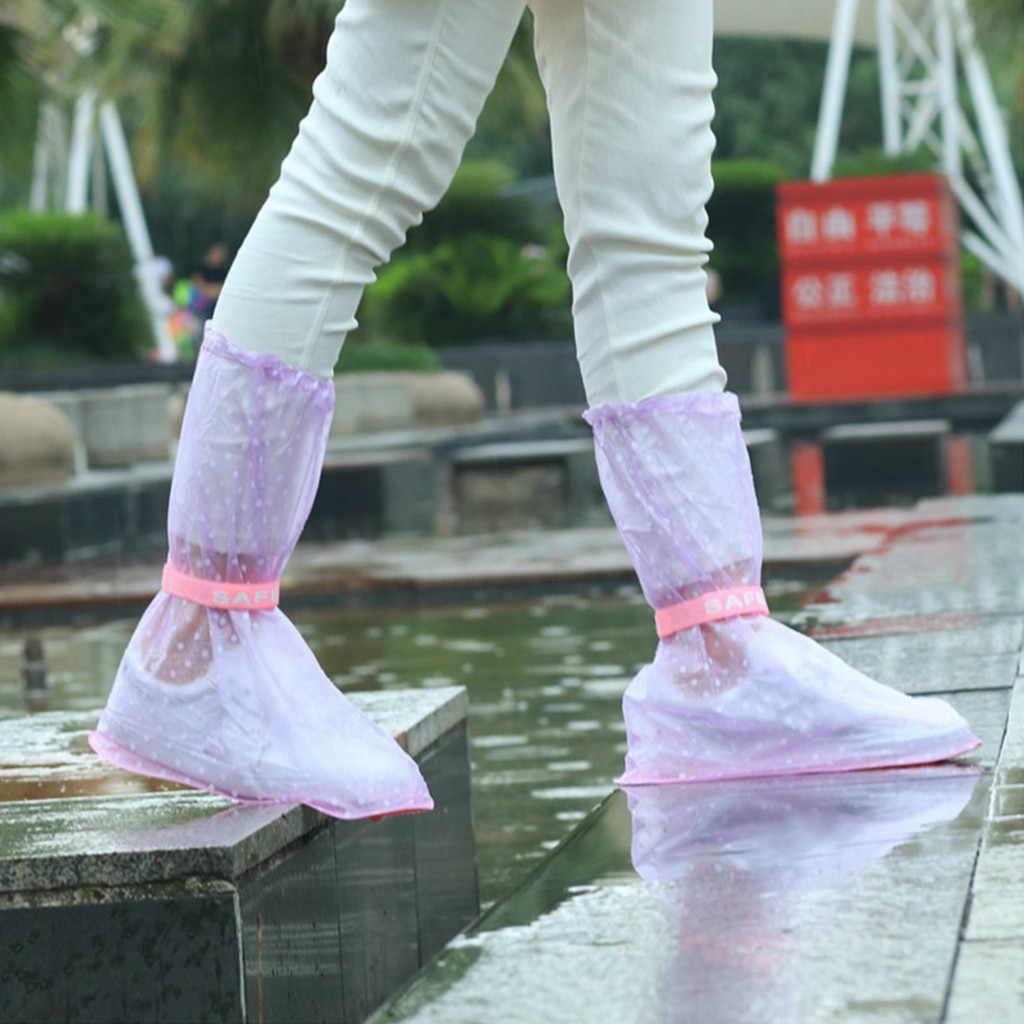 A sapata impermeável cobre as tampas elásticas adultas impermeáveis da sapata da chuva do flattie com material durável do pvc para acessórios das sapatas do curso