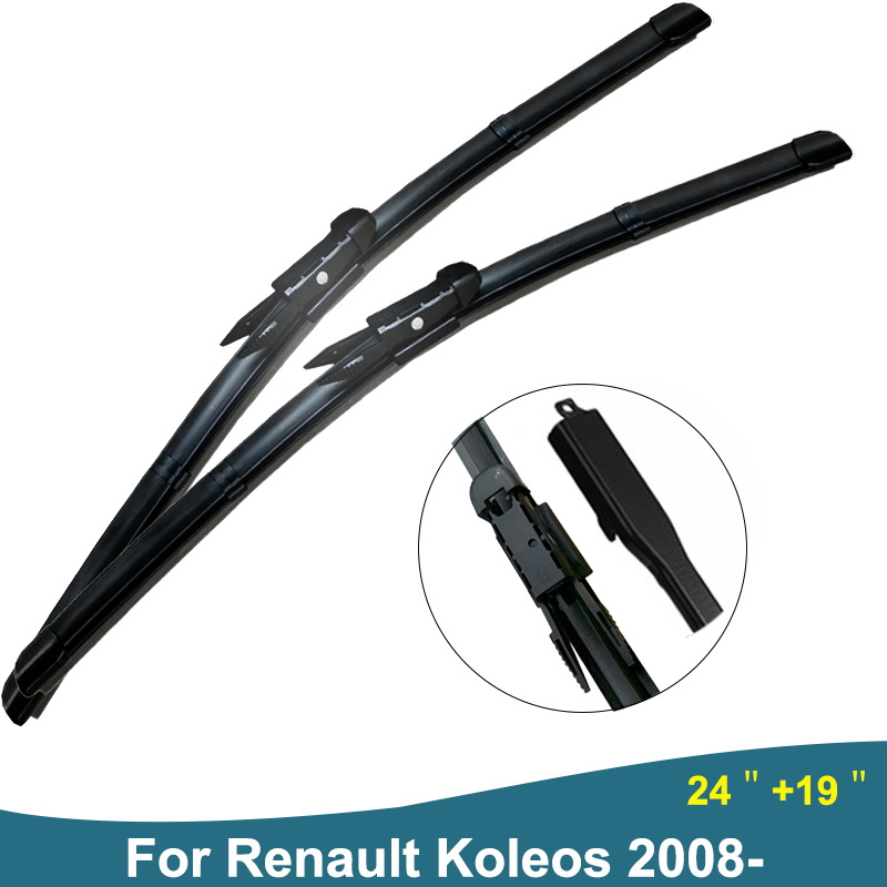Car Wiper Blades Windshield Wipers for Car Janitors Windscreen Wipers For Renault Koleos Accessories