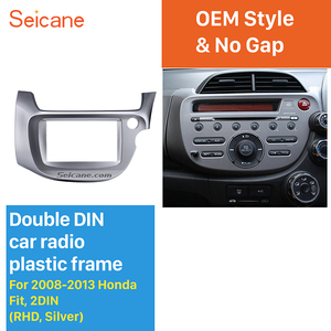 Image 1 - Seicane Zilver 2 Din Autoradio Fascia Voor 2008 2009 2010 2011 2012 2013 Honda Fit Rhd Audio Frame Stereo interface Panel Adapter