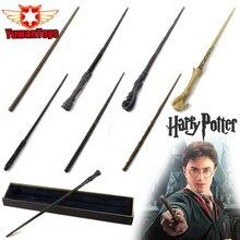 Оригинальная волшебная палочка Гарри Поттера с упаковкой в подарочную коробку, металлическая волшебная палочка для детей, косплей, волшебная палочка Гарри Поттера