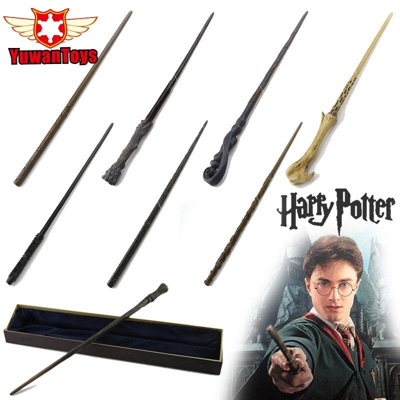 Véritable Harry Potter Thème Baguette Avec Boîte-Cadeau D'emballage En Métal-Core Baguette Magique Pour Enfants Cosplay Harry Potter Magique baguette