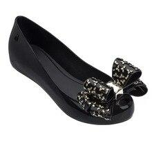 Women Melissa Sandals 2019 New SummerJ elly Shoes Women Casual Flat Fashion Butterfly-knot Melissa Sandals For Women Size 35-39