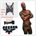 Ainiel Marvel Comic Classical Deadpool Cosplay Costume Halloween Cosplay  Bodysuit Lycra Spandex Zentai  Jumpsuit and Belt Strap