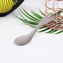 Двойная металлическая вилка и ложка многофункциональные домашние столовые приборы портативные походные новые ножи для пикника/вилка/ложка