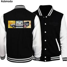 Назад в будущее Initial D Мужская куртка с принтом Бейсбол Одежда Повседневная мужская куртка Пальто