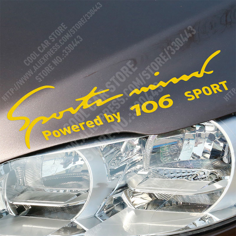 Sports Mind Car Covers Reflective Material Car Stickers Decal Car-Styling For peugeot 106 Reflective Sticker car accessories