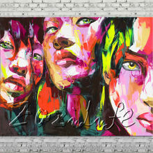 Palette knife portrait Face Oil painting Character figure canvas Hand painted Francoise Nielly wall Art picture 710