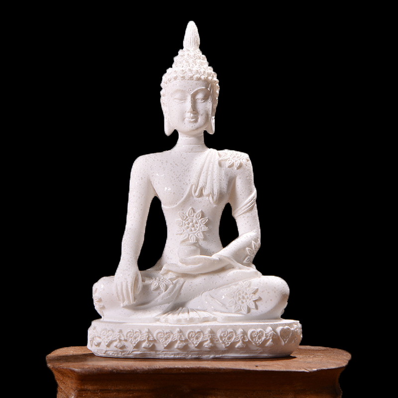 11 Style Miniature Buddha Statue Nature Sandstone Fengshui Thailand Buddha Sculpture Hindu Figurine Home Decorative Ornament 15