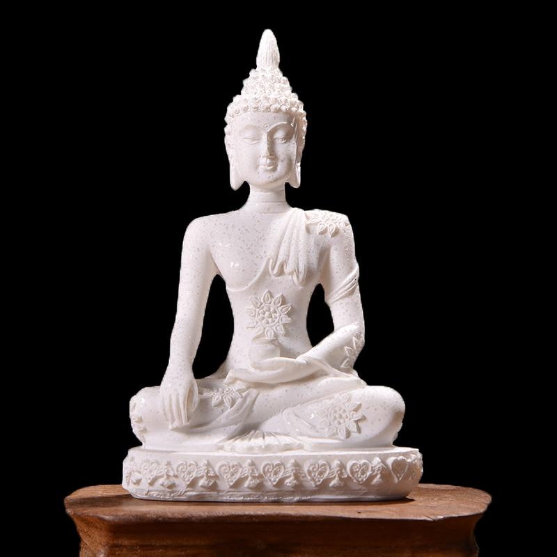 Miniature Buddha Statue Nature Sandstone Fengshui Buddha Sculpture