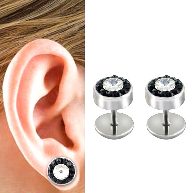 stainless steel 16g fake body piercings mens fake plug earrings faux flesh plugs online store. Black Bedroom Furniture Sets. Home Design Ideas