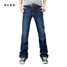 2017 New Mens Flared Jeans Boot Cut Leg Flared Slim Fit Mid Waist Male Designer Classic Denim Jeans Pants Bell Bottom Jeans Size