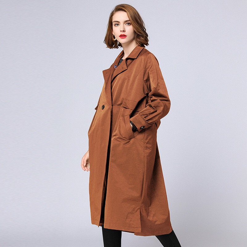 Anya 2018 Winter Coats Loose Maternity Coats Pregnancy Clothes Plus Size Outerwear Button Pockets Sashes Long Coats Wool grey two side pockets long sleeves outerwear