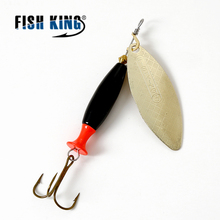 FISH KING Spinners Spoon Bait mepps 18g 24g metal aritificial lure for fishing with high carbon hooks fishing accessories