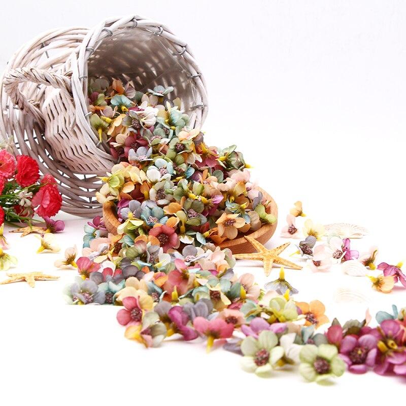 50/100pcs Multicolor Daisy Flower Head Mini Silk Artificial Flower For Wedding Engagement Party Home Decor DIY Garland Headdress 6