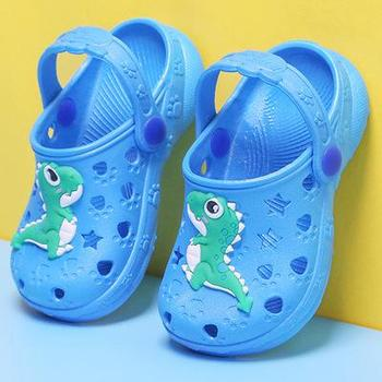 0-7 Years Kids Mules & Clogs Summer Baby Boys Girls Croc Sandals Flat Heels Solid Cartoon Slippers Children's Garden Shoes Y17 - as picture, 35