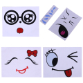 Lactation Belly Stickers Cute Photography Props Woman Pregnant Smiling Face Belly Stickers Mum Maternity Accessories