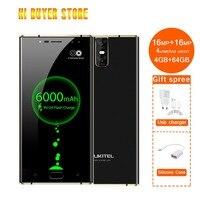 K3 Mobile Phone Mt6750t Octa Core 4gb+64gb 5.5 Dual 2.5d Screen 6000mah 4 Cameras 16mp+2mp Front Fingerprint Smartphone