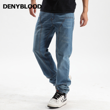 Plus Size 30-46 Mens Jeans Pants Hip Pop Dark Washed Jeans Mutil Seams Cargo Pants For Mens Casual Pants 1826