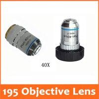 40X195 Plano Acromática de Ensino Profissional 20.2MMx0.705 Bio Microscópio Lente Objetiva Diâmetro Da Rosca para a Ciência Médica objective lens plan achromatic lens lens achromat -