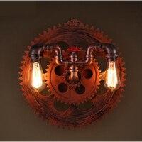 Промышленные ветер гостиной бар ресторан коридор круглые настенные лампы личность магазин клуб бра Ретро водопровод Бра цвета античной бр