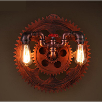 industrial wind living room bar restaurant corridor round wall lamp personality shop club wall lamp retro water pipe wall lamp