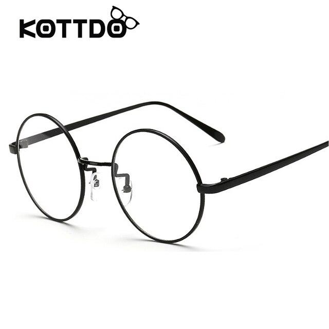Metal Round Frame Eyeglasses Round Frames Eye glasses Women Retro ...