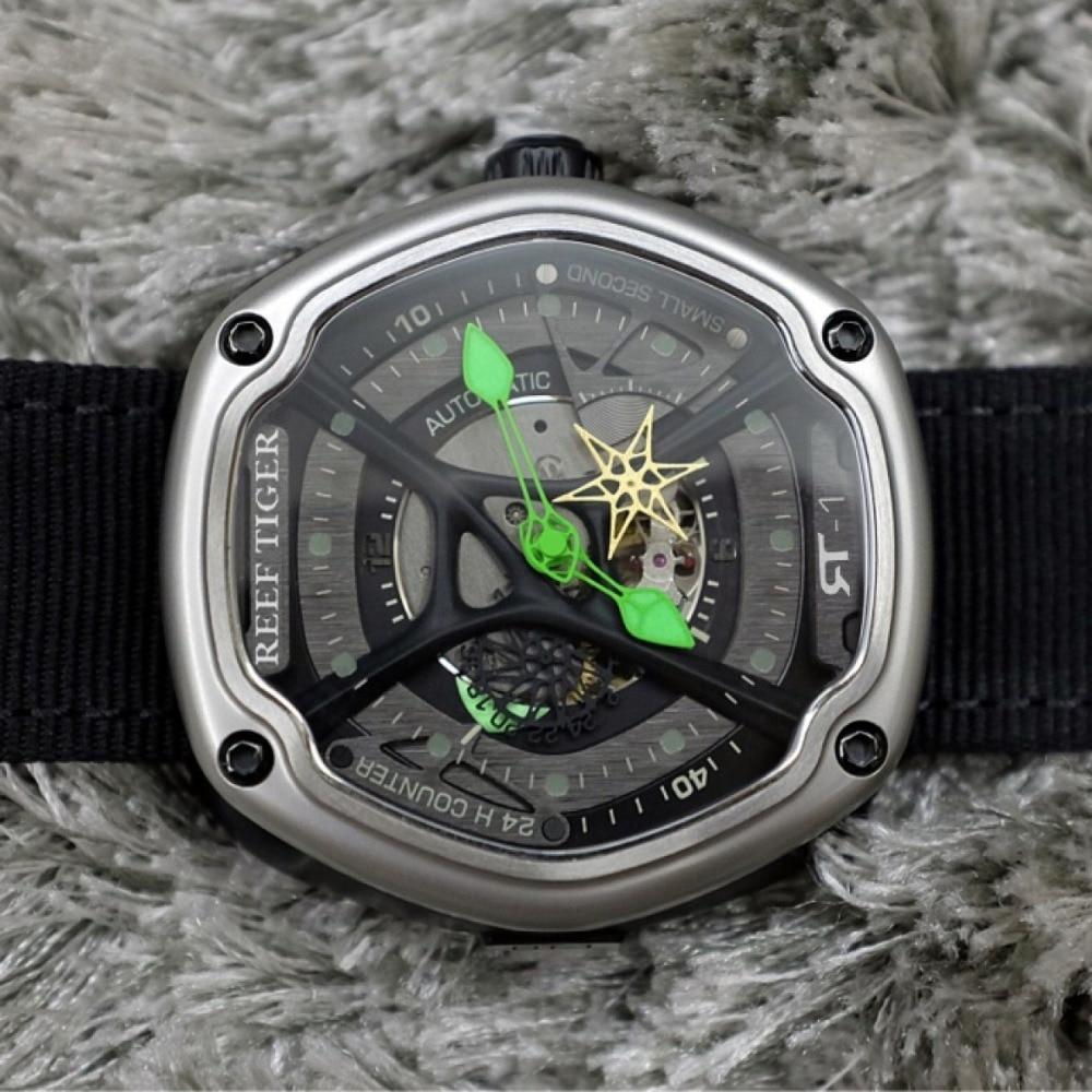 Rafa Tiger/RT luksusowy sportowy zegarek mężczyźni wodoodporna Top marka automatyczny zegarek Luminous zegarki do nurkowania Relogio Masculino RGA90S7 w Zegarki sportowe od Zegarki na  Grupa 2
