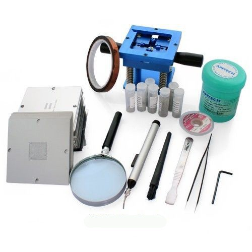 BGA reballing kit with 170pcs 90 x 90mm BGA stencils for laptop+desktop+RAM+XBOX/PS3/WII GPU CPU