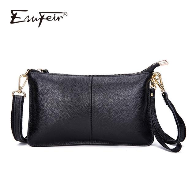 b62ad833da40 100% Genuine Leather Women Messenger Bag Famous Brand Female Shoulder Bag  Envelope Clutch Bag Crossbody Bag Purse for Women 2018