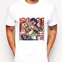 Men Fashion Conor Print Mcgre Cotton Top Big Size T Shirt Muay Thai Boxing Fear Of