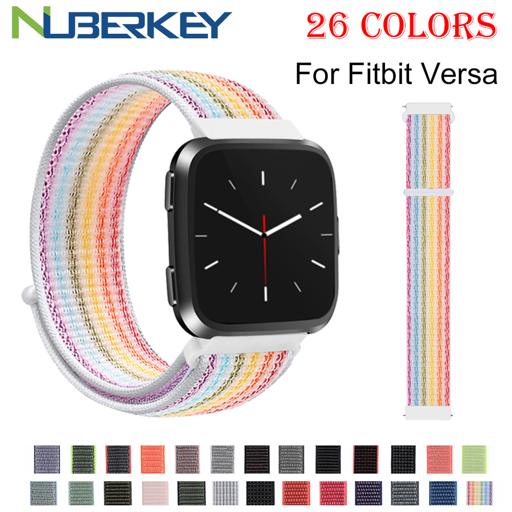 Sport Replacement Woven Nylon Strap For Fitbit Versa Breathable Adjustable Closure Loop Watch Band For Fitbit Versa Smart Watch