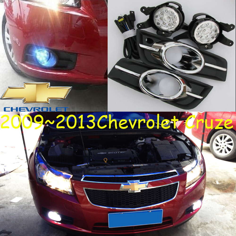 Cruze fog light,LED,2009~2013,Free ship!Cruze daytime light,2ps/set+wire ON/OFF:Halogen/HID XENON+Ballast,Cruze bqlzr dc12 24v black push button switch with connector wire s ot on off fog led light for toyota old style