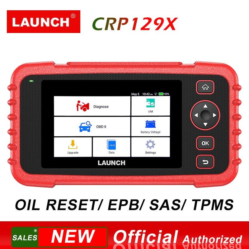 Ferramenta de Diagnóstico de lançamento CRP129X OBD2 PK CRP129 4 Sistema de Scanner de Redefinição de Petróleo/EPB/SAS/TPMS/Acelerador serviço/AutoVIN